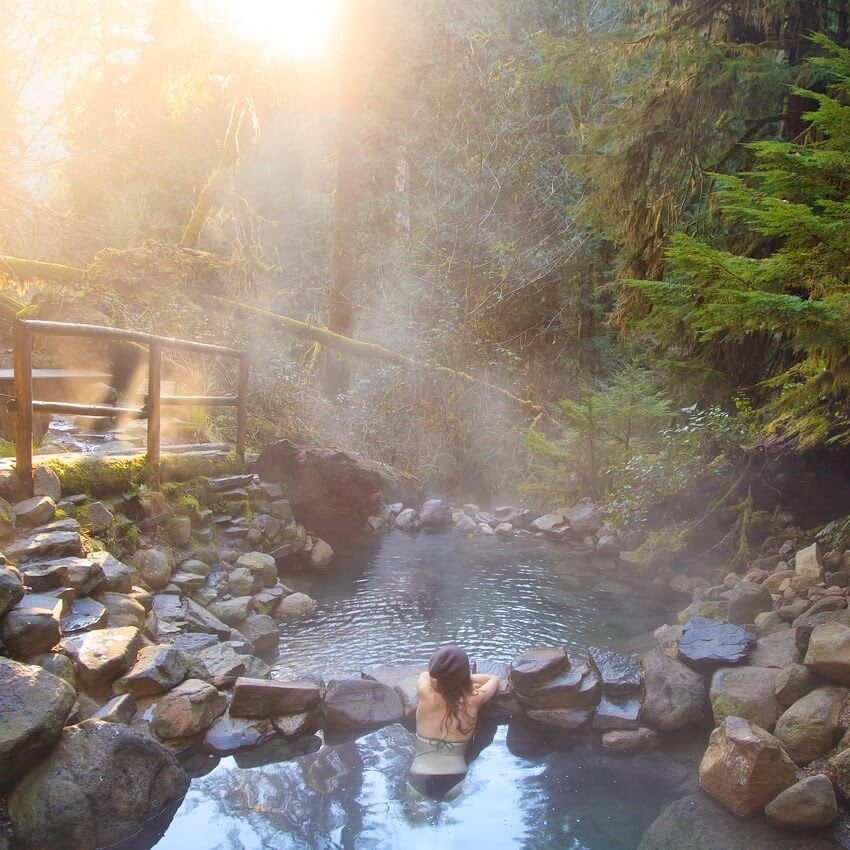 A view in Cougar Hot Springs