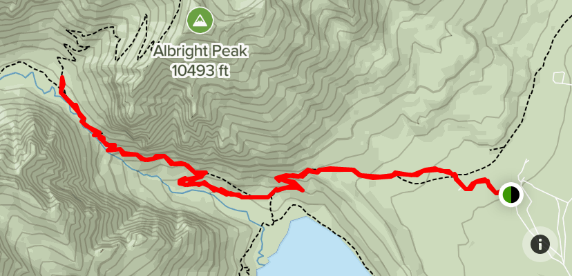 Death Canyon to Patrol Cabin Hiking Trail