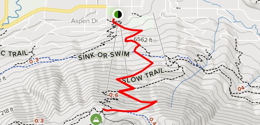 Snow King Summit via Slow Trail