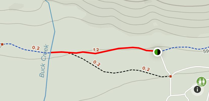 Burnside lake to Buck Creek Hiking Trail