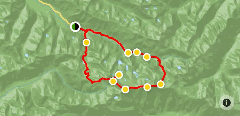 High Divide and Seven Lakes Basin Loop Trail