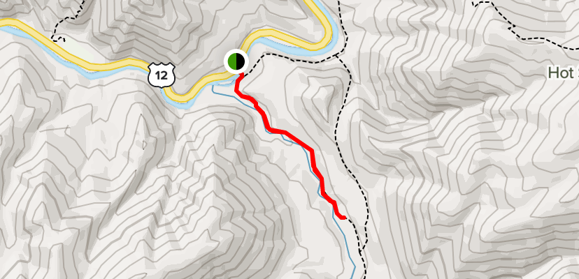 A route to Jerry Johnson Hiking Trail