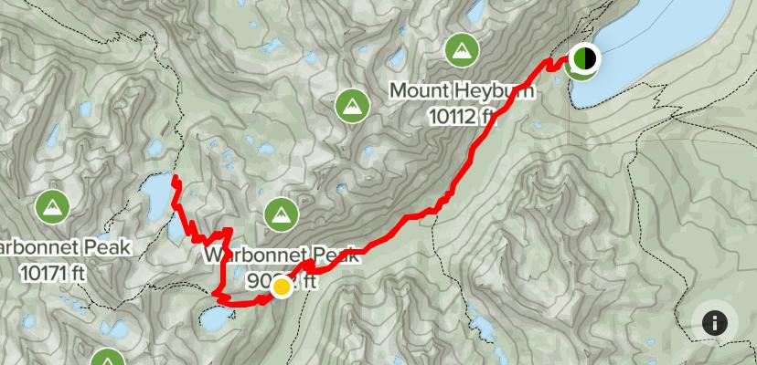Redfish Lake to Baron Lake via Hiking Trail 101