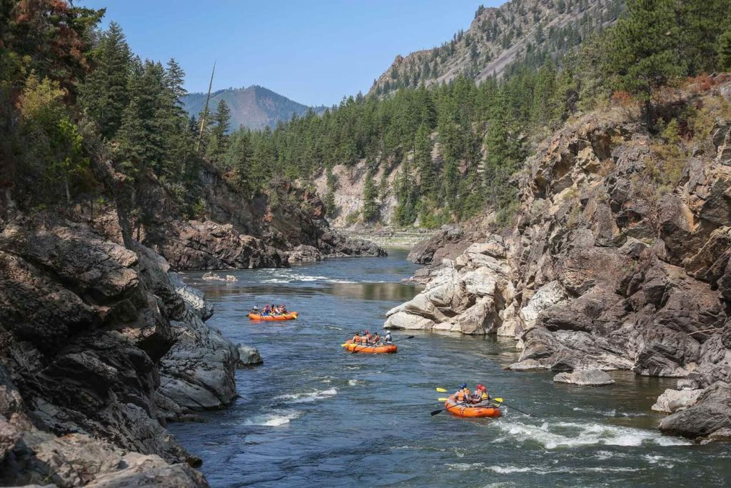 White Water Rafting in the Famed Alberton Gorge